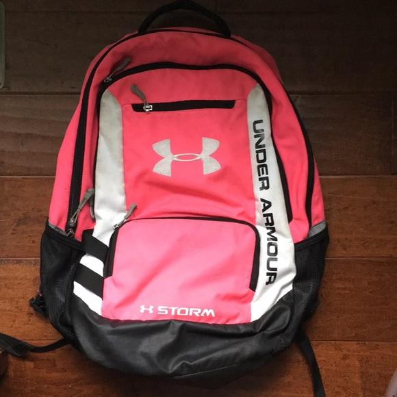 329bdc7d75 Pink Under Armour Book bag. M 5abfdf6885e6055fb8aad3cc